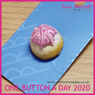 One Button a Day 2020 by Gina Barrett - Day 148 : Iced Gem