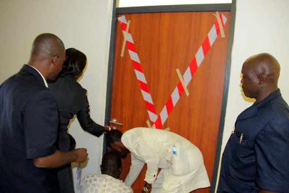 National Assembly staff seal Abdulmumin Jibrin's office ( PHOTOS)