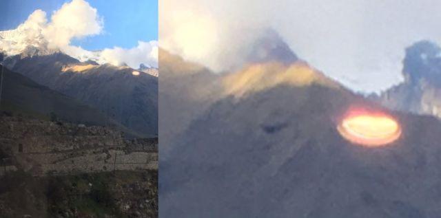 UFO News ~ Glowing Disk photographed over Peruvian Andes near Machu Picchu, Peru  plus MORE UFO%2BMachu%2BPicchu%2B%25281%2529