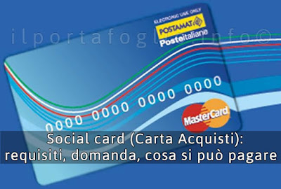 carta acquisti social card