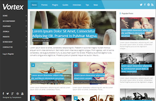 Vortex Blogger Template
