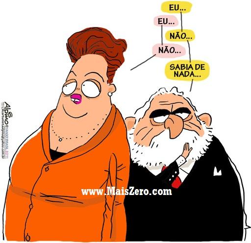 Resultado de imagem para Lula e Dilma não sabiam de nada charges
