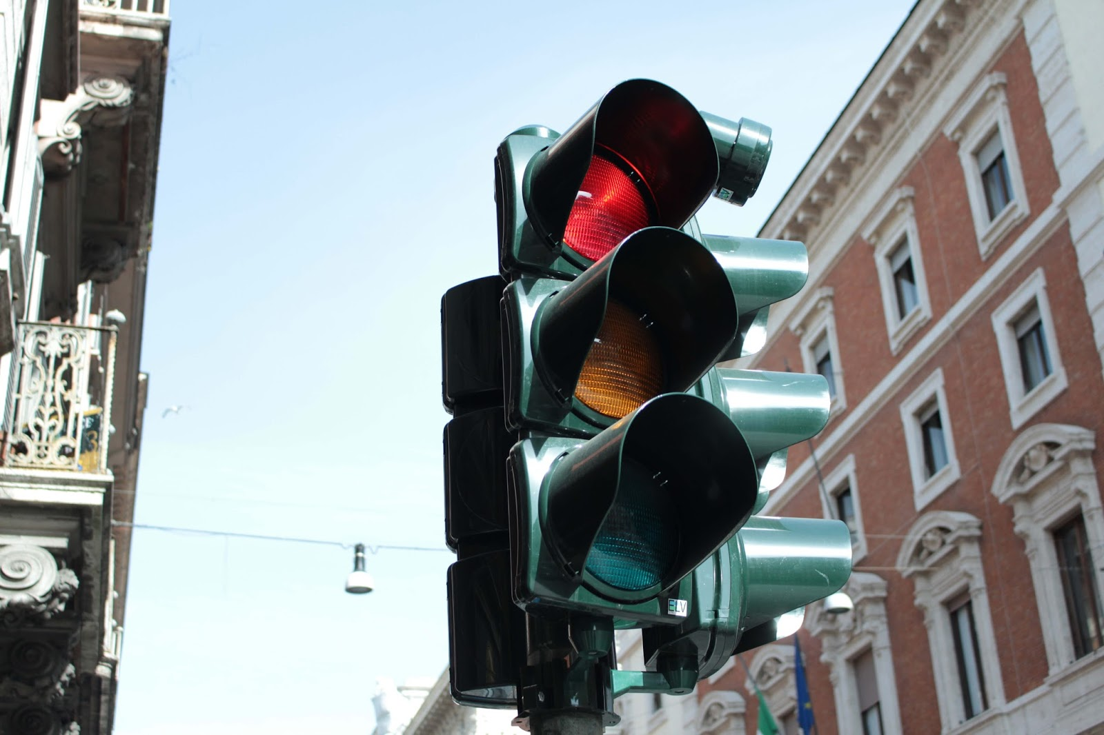 traffic lights in rome daytime