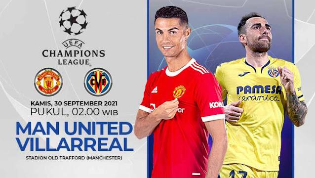 Siaran Ulang dan Cuplikan Goal Manchester United vs Villareal   30 September 2021