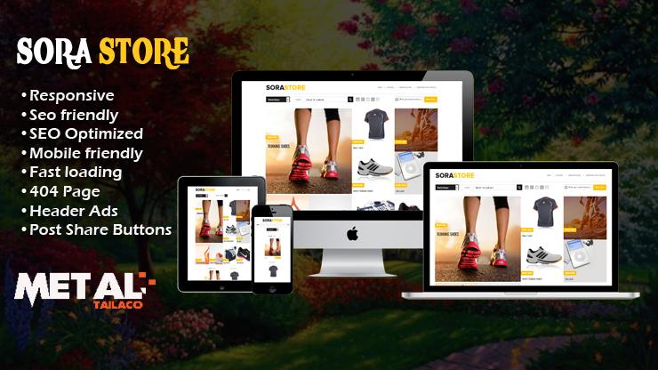 Sora Store Premium Responsive Blogger Template