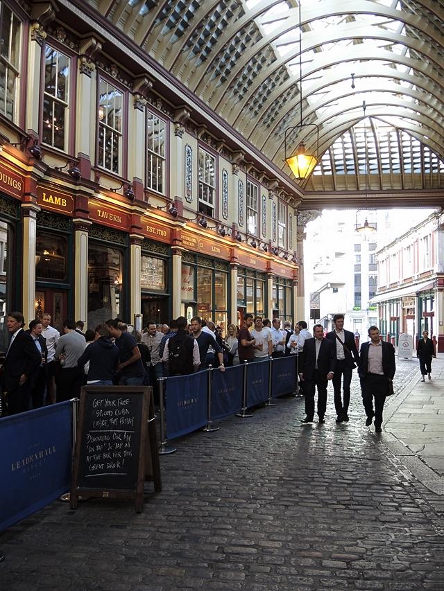 Londen: maatpakken en Leadenhall Market in The City