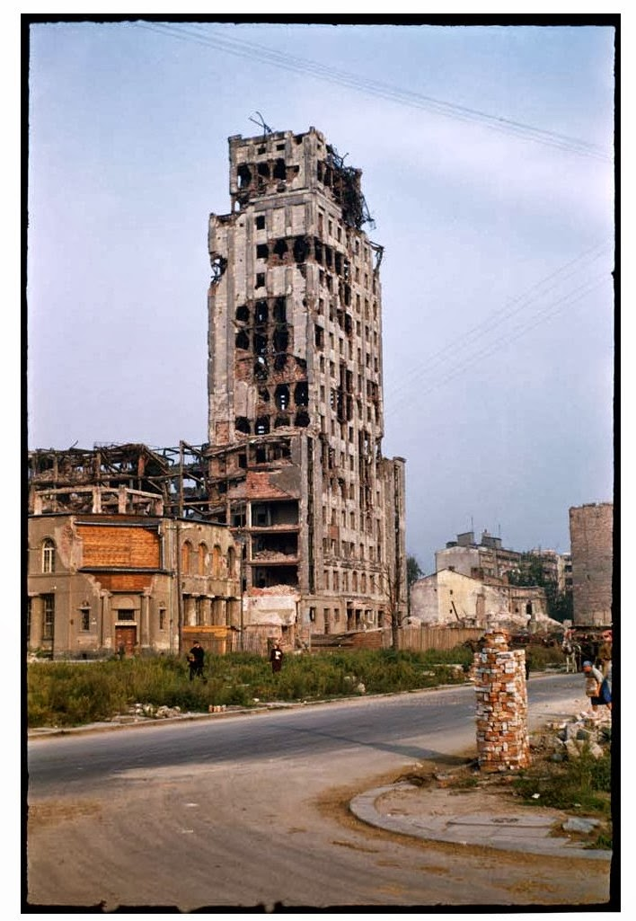 Post War Photos Of Warsaw In Colors In 1947 Vintage Everyday
