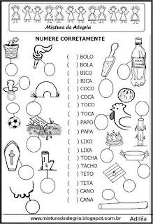 Atividade diagnóstica português 1º ano