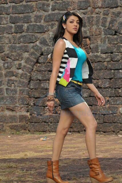 Kajal Agarwal Short Tight Dress Thigh Show Damn Hot - Desi -6562