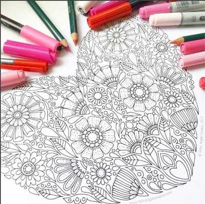 doodle art bunga
