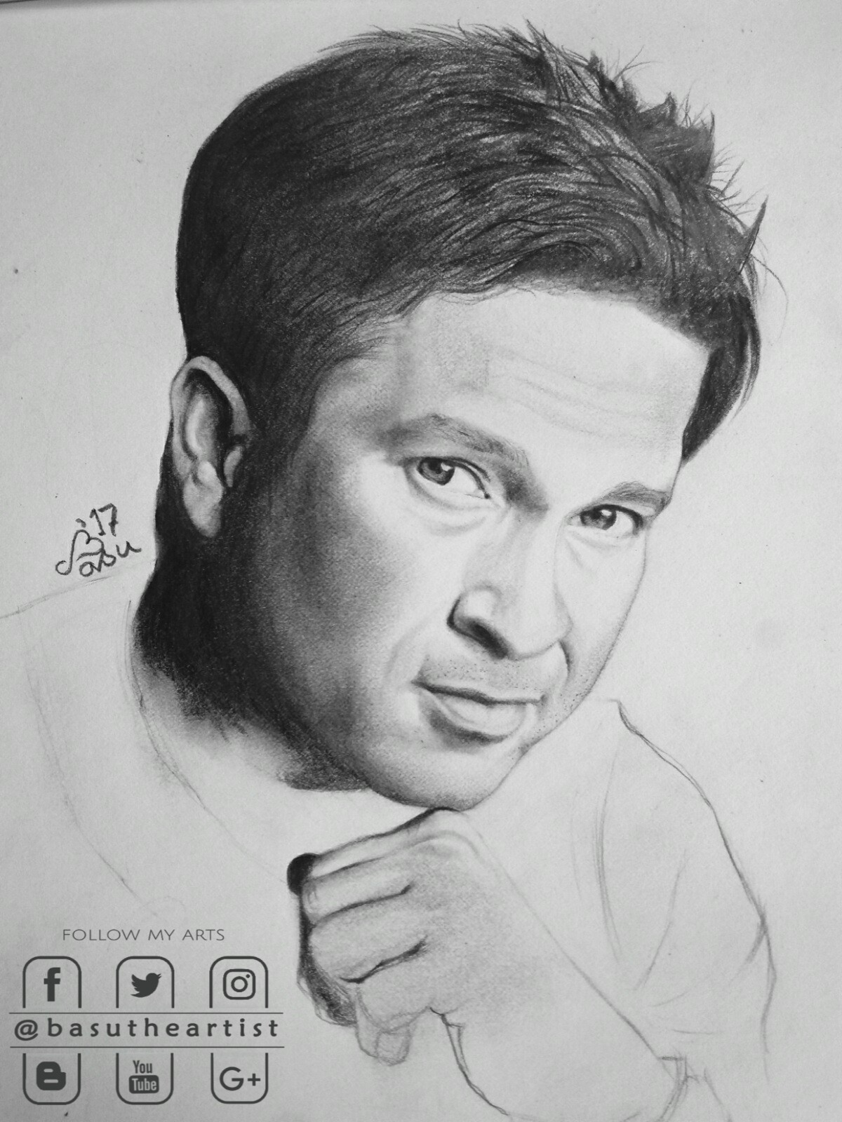 Sachin tendulkar pencil sketch step by step basudev patra