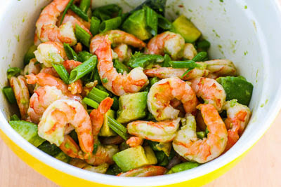 finished Easy Paleo Shrimp and Avocado Salad found on KalynsKitchen.com