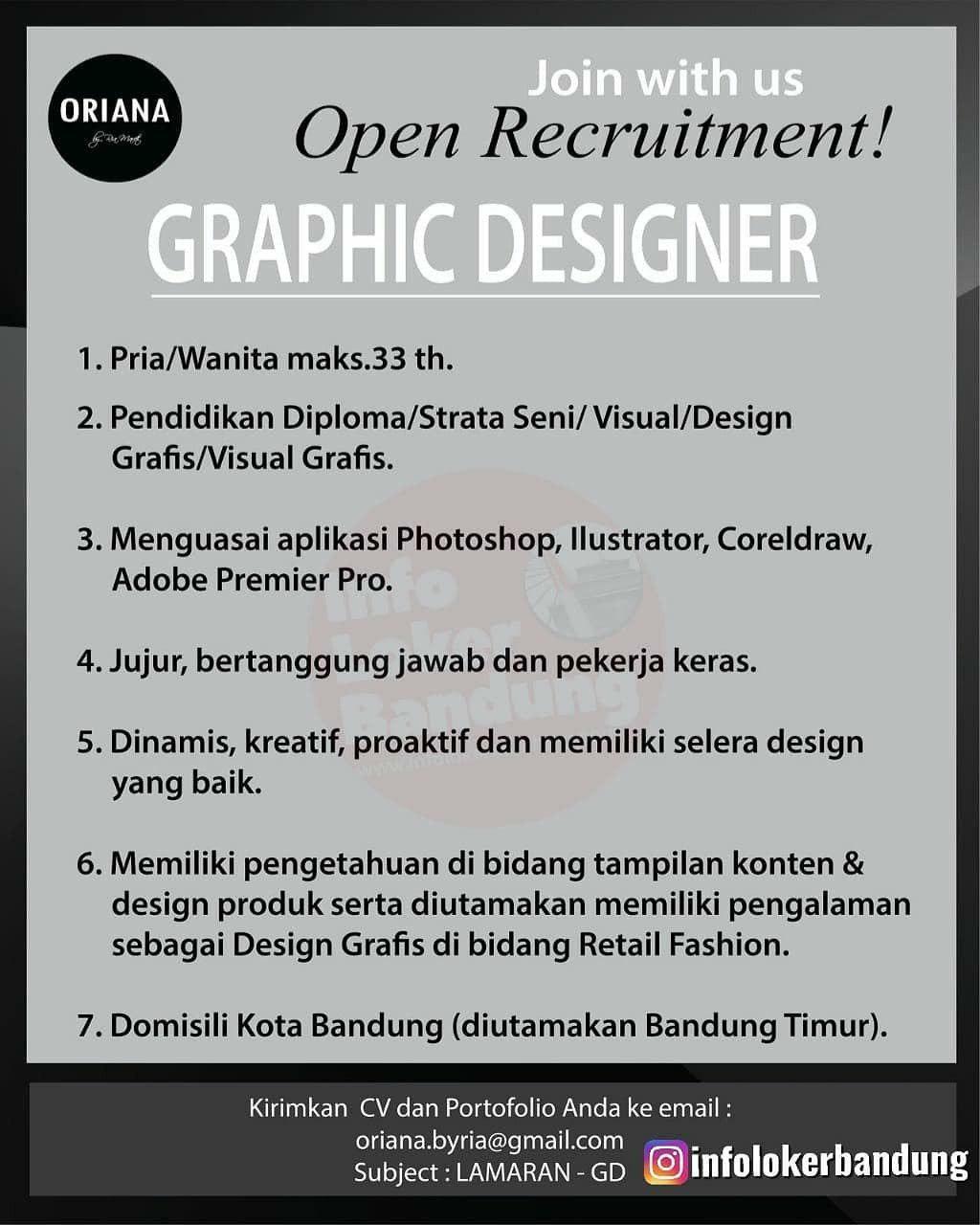 Lowongan Kerja Graphic Designer Oriana Boutique & Scarves Bandung Juli 2020