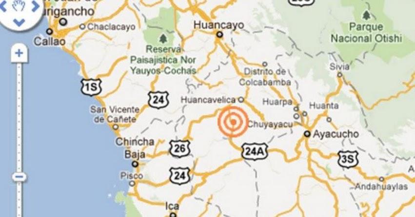 Fuerte temblor de 4.5 grados sacudió anoche a la región Huancavelica