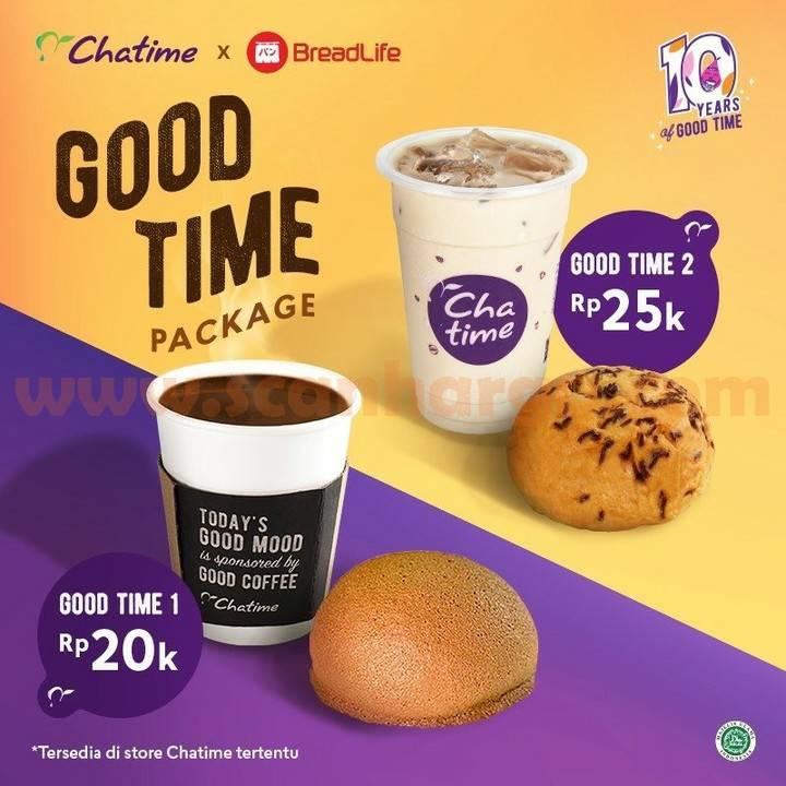 CHATIME x BREADLIFE Promo GOOD TIME Package harga mulai 20 Ribu-an
