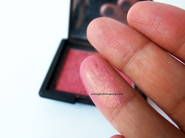 swatches blush Orgasm NARS