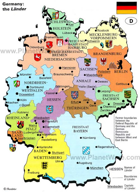 map with germany