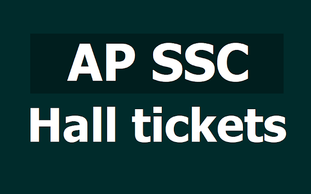 AP SSC 10th Class Exam Hall tickets