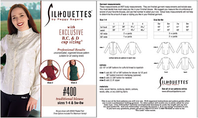 Creates Sew Slow: Silhouette Patterns #400 Traditional Blouse
