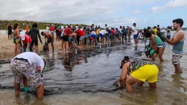 derramamento de óleo nas praias do Nordeste
