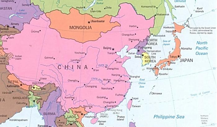 Negara Asia Timur Beserta Ibukota dan Keterangannya