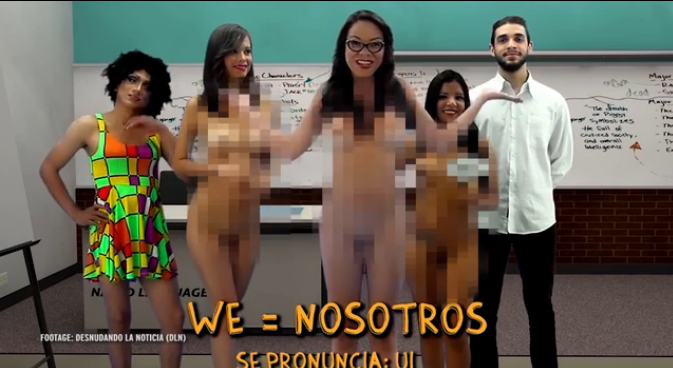 naked female teachers and students in a class