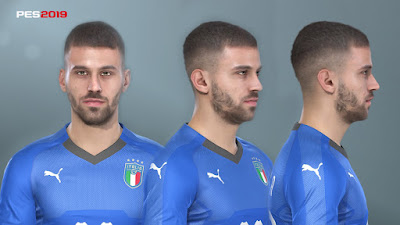PES 2019 Faces Leonardo Spinazzola by Prince Hamiz