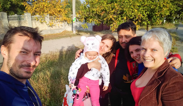 With Marcel, Eugenia, Sara and two other close friends of ours, Alex & Cata, in Moldova