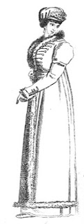 Cloth great coat in the Hussar style   from La Belle Assemblée (Feb 1806)