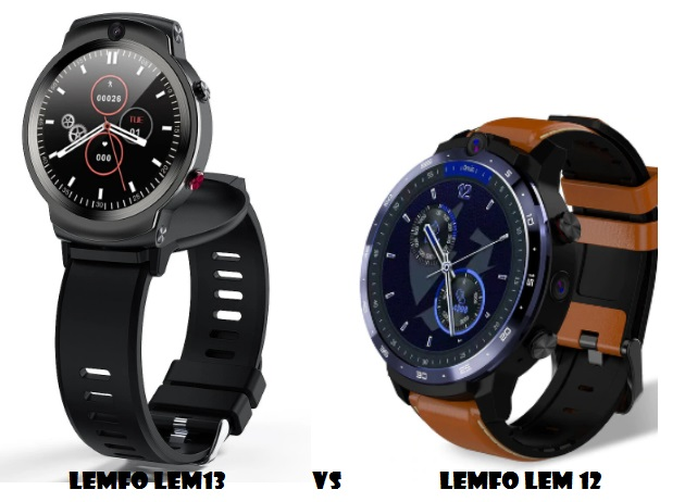 LEMFO LEM13 VS LEM 12 4G SMARTWATCH