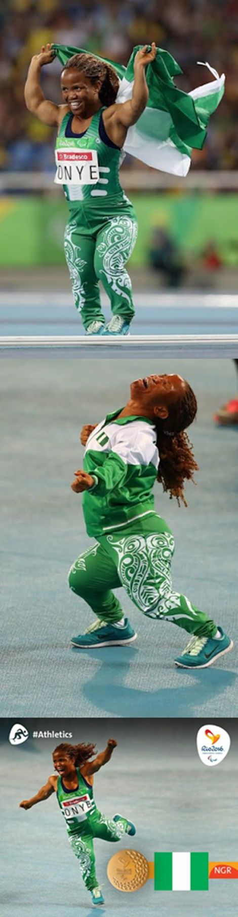 Rio Paralympics: Nigeria's Onye Lauritta Wins Gold (Photos)