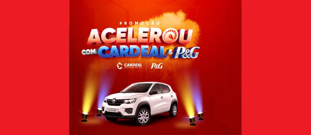 Promoção Acelerou Cardeal Distribuidora 2021 P&G  Carro 0KM Renault Kwid - Cadastrar