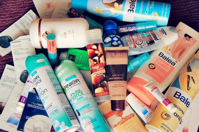 beauty empties, skincare deodorants body lotions makeup perfumes