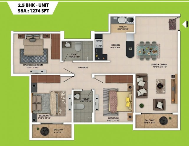 Salarpuria Sattva Park Cubix Floor Plan