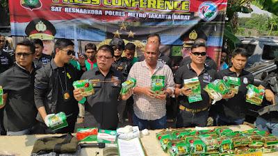 Polisi Beberkan Modus Pengedar Narkoba Jaringan Malaysia-Jakarta