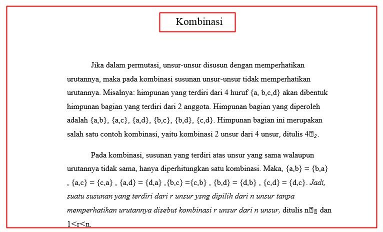 Contoh Makalah Kombinasi Matematika Pgsd Unnes 2014 Kamu Harus Tahu