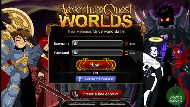 adventure quest worlds sering disingkat aq games