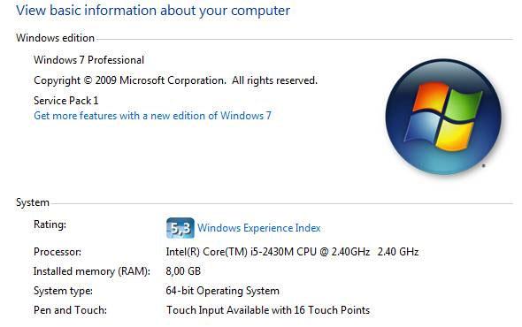 Cách nhận biết máy tính chạy HĐH Windows 64 bit
