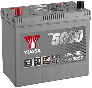 Yuasa YBX5057 Silver Car Battery for Jimny