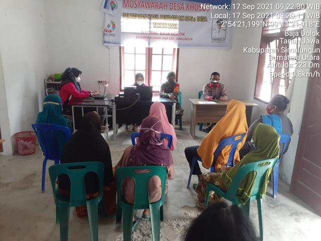 Pembagian BLT-DD Turut Serta Didampingi Personel Jajaran Kodim 0207/Simalungun DIwilayah Binaan