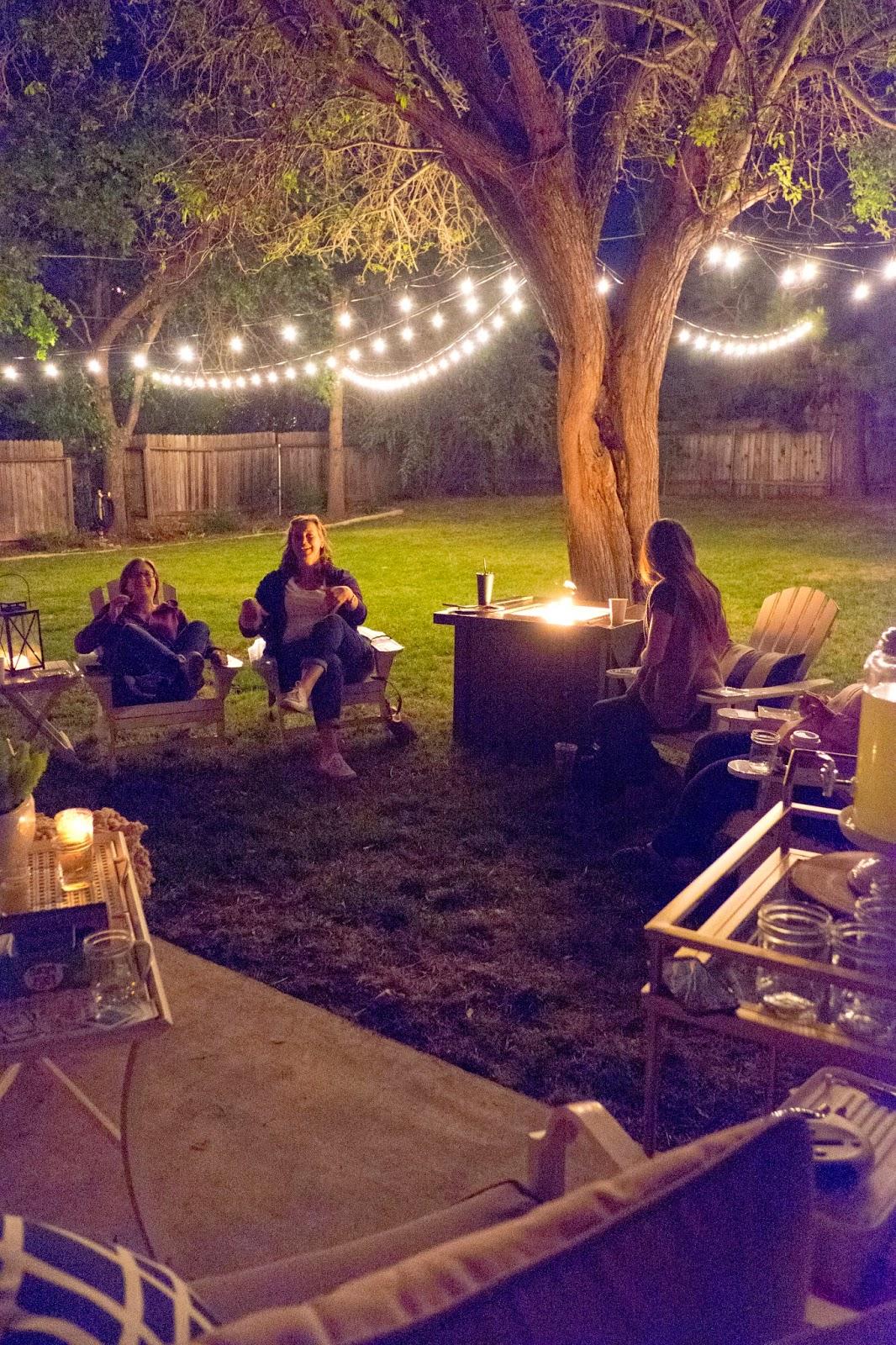 Domestic Fashionista Girl S Night In Backyard Game Night