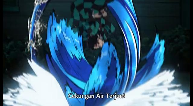 Pernaafasan Air Teknik Kedelapan : Guci Air Terjun (achi Haci no Kata : Takisubo)