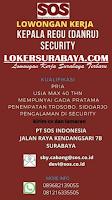 Karir Surabaya di PT. SOS Indonesia Januari 2020