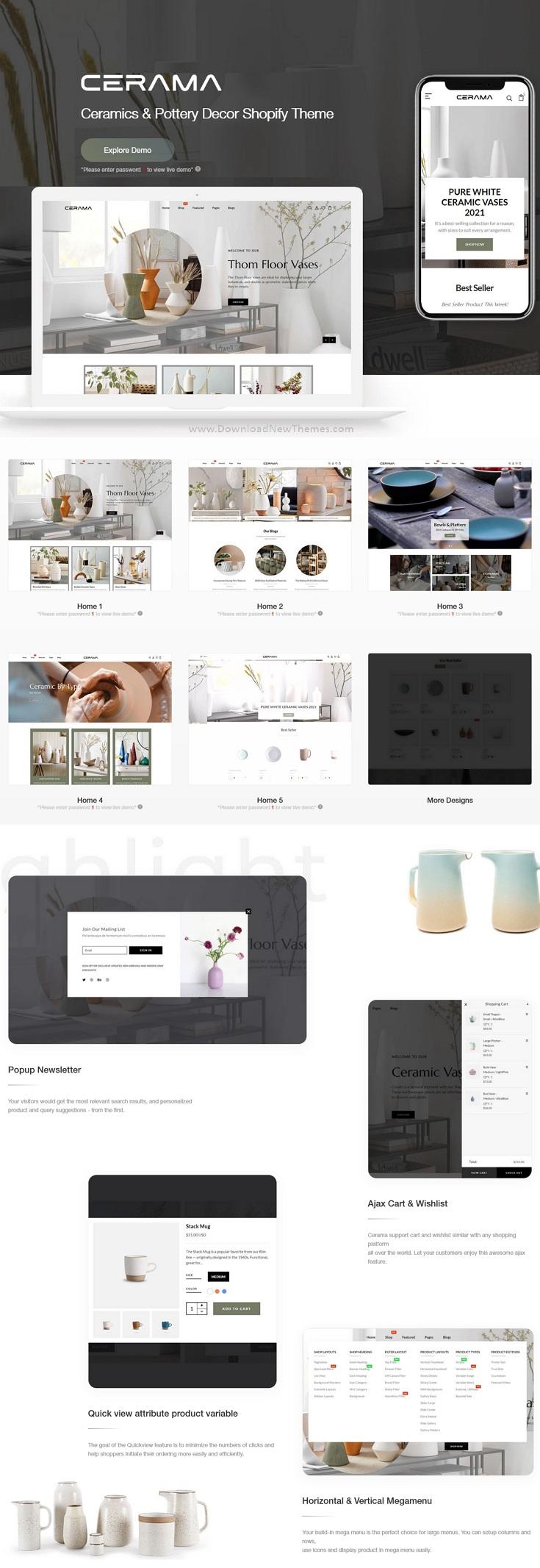 Ceramics and Pottery Decor Shopify Theme