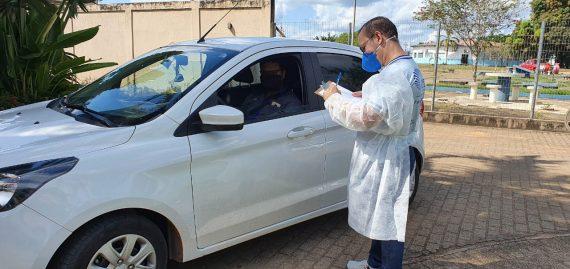 Drive-Thru: pessoas sintomáticas podem realizar teste rápido no estacionamento do Palácio Rio Madeira neste sábado (6)