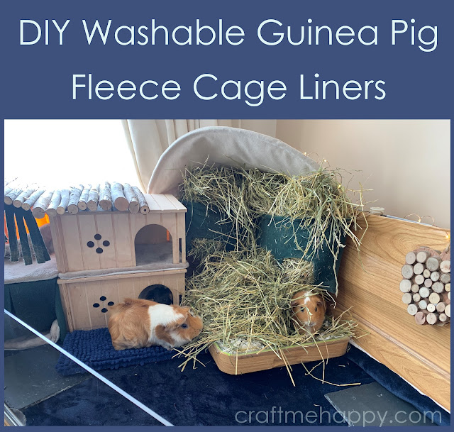 Craft Me Happy How To Make Waterproof Guinea Pig Fleece