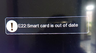 Pesan Smartcard is out of date