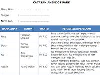Format Catatan Anekdot PAUD Kurikulum 2013