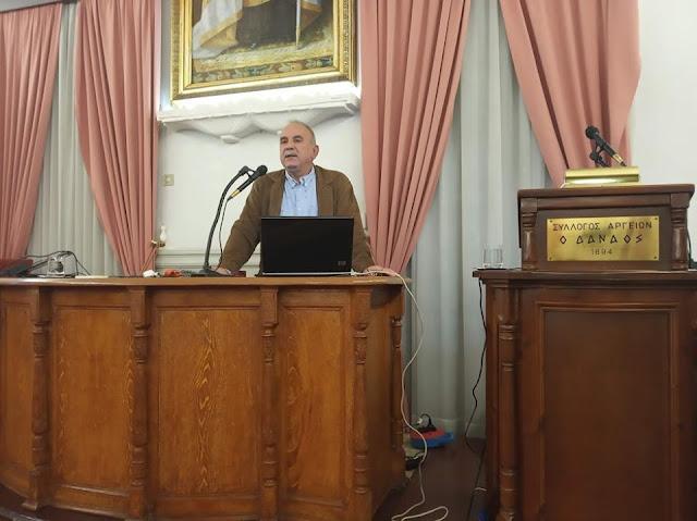 """Με πολύ ενδιαφέρον η ομιλία του Δημήτρη Δήμου για την Ξυλλέλα στον """"Δαναό"""""""