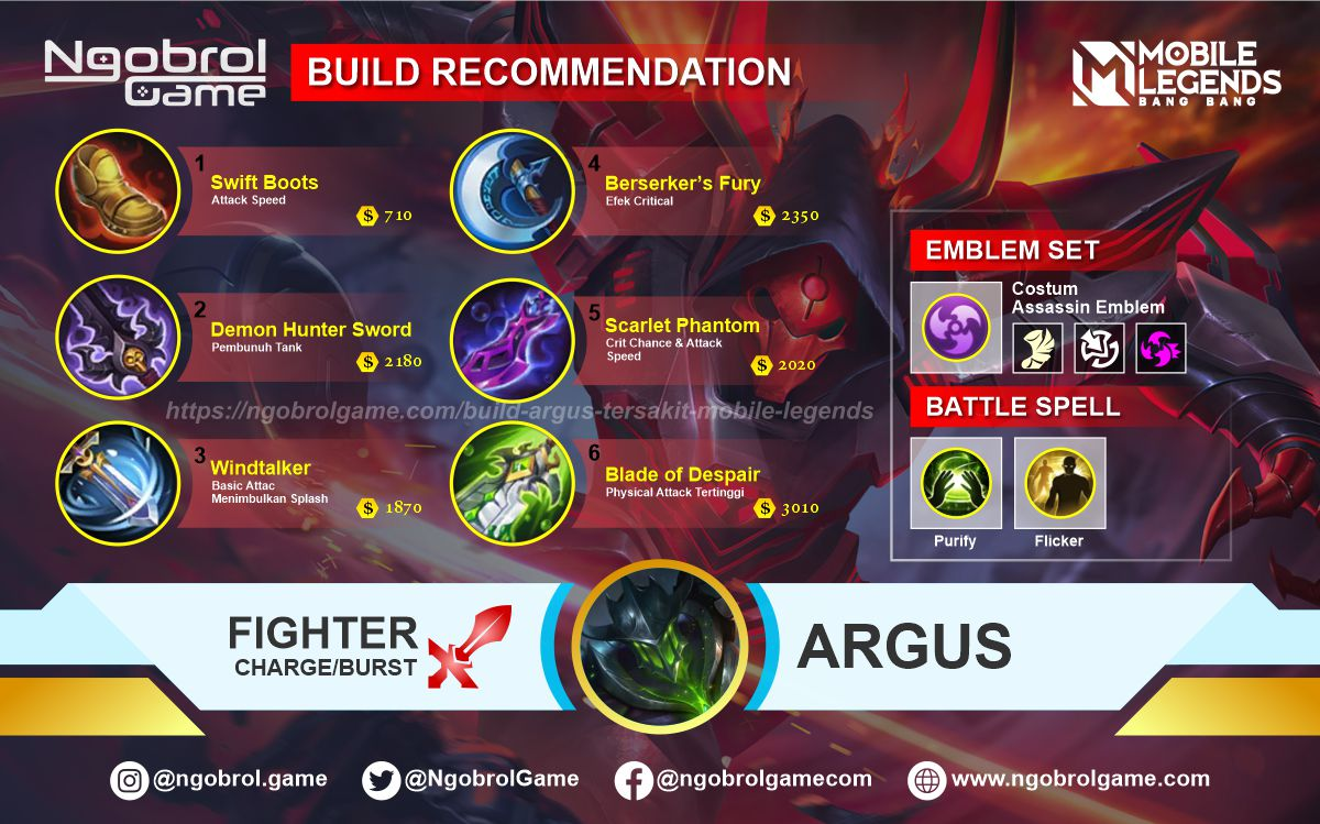 Build Argus Top Global Tersakit Mobile Legends